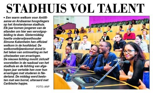 Telegraaf 14 aug 2014